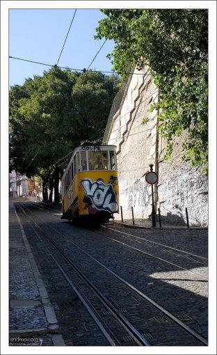 Длина маршрута фуникулера Глория - 265 метров.