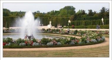 """Очень гармоничное сочетание цветов вокруг фонтана """"Ящерицы""""."""