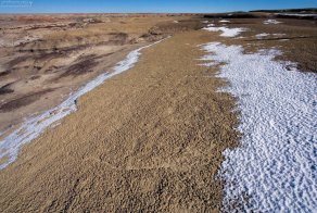 Хитрая и очень мягкая почва на гребне каньона.