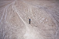 Равнина Salar de Atacama с вышки Torres observation.