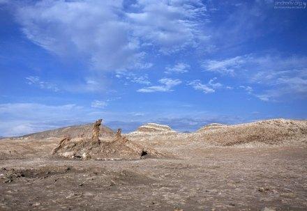 """Формация, известная как """"Три Марии"""" - Las Tres Marías, Valle de la Luna."""