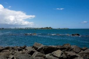 Залив San Juan и пальмовая стрелка.