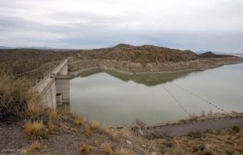 Дамба Elephant Butte Dam на реке Рио-Гранде.