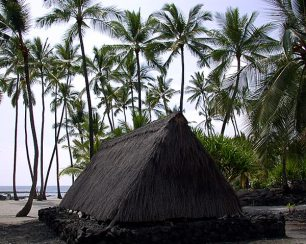 Гавайская деревня Pu'uhonua o Honaunau.