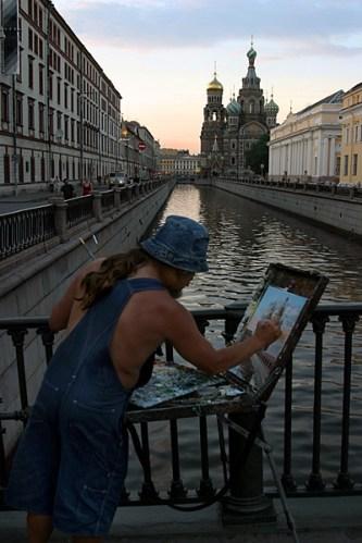 Питерский художник.