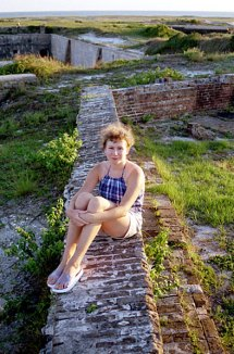 На крыше Форта Пикенс. Пенсакола, Флорида. Сентябрь, 2000 год.