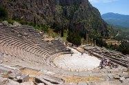 Амфитеатр в древних Дельфах. Построен 2500 лет назад.