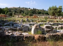 Руины древней Агоры.