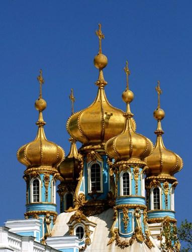 Башенки Екатерининского дворца. Архитектор - Ф. Б. Растрелли.