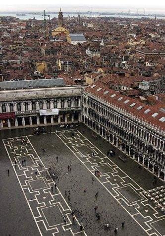 Площадь San Marco с высоты.