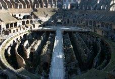 Арена в Колизее. Внизу находились помещения для гладиаторов и диких животных.