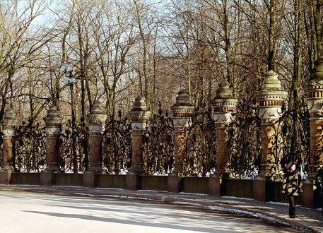 Ограда Михайловского сада.