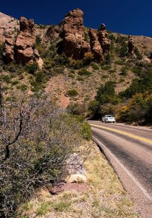 Дорога через ущелье Green Gulch.