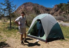 Палатка Кости и Тани в кемпинге Chisos Basin campground.