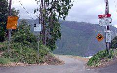 Очень крутая и опасная дорога с уклоном в 25%! Только для джипов. Waipi'o Valley.