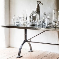 Zinc Top Table | Copper Dining Table | Andrew Nebbett Designs