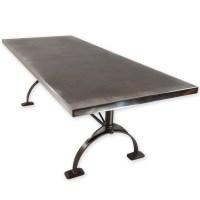 Zinc Top Table | Zinc Dining Table | Andrew Nebbett Designs