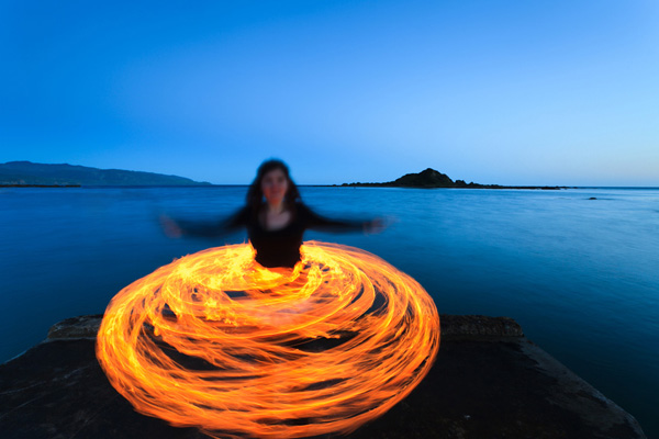 Fire performers, Wellington
