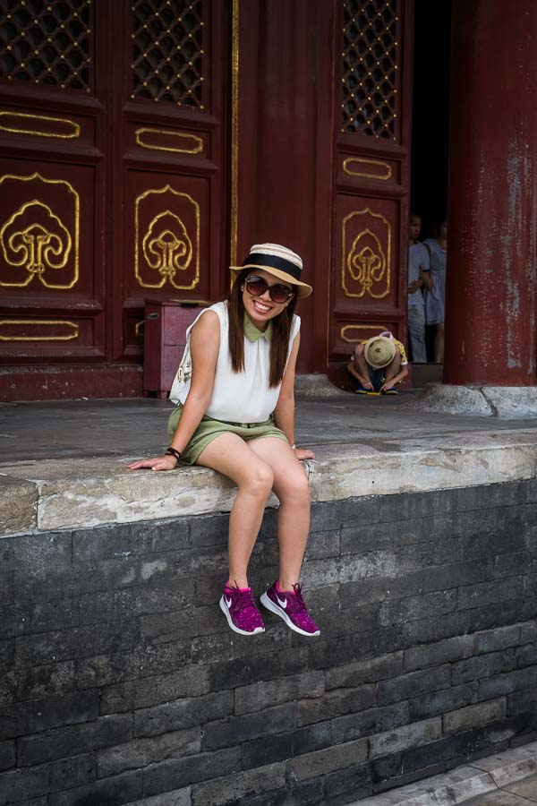 A candid portrait taken in Beijing, China.