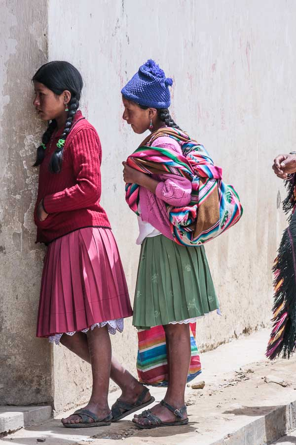 A candid portrait taken in Tarabuco, Bolivia with a telephoto lens.