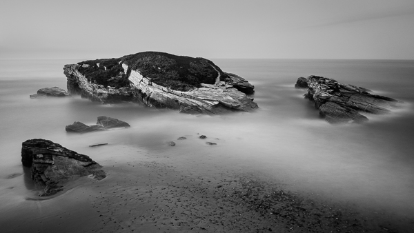 Black and white landscape photo Spain