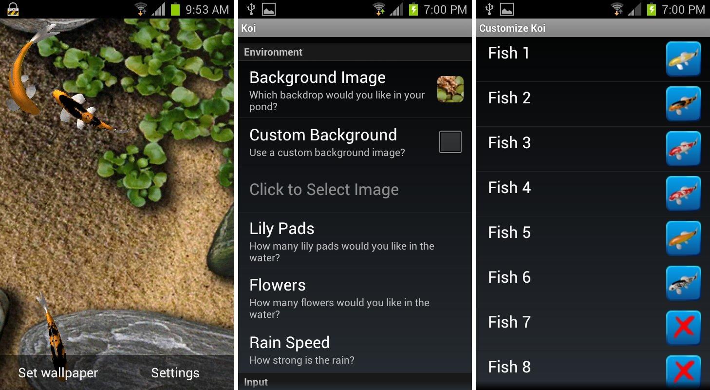 Interactive 3d Aquarium Live Wallpaper Best Aquarium And Fish Live Wallpapers For Android