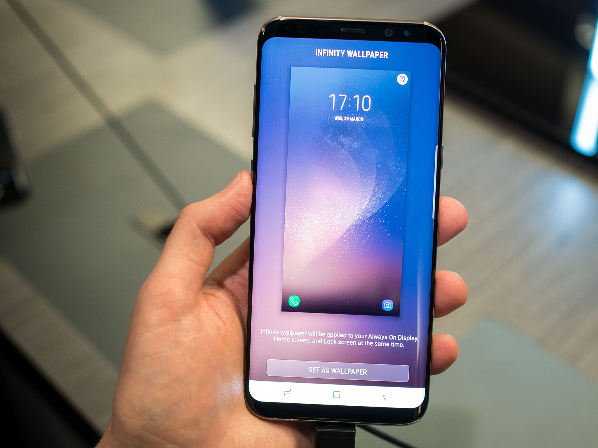 Android Live Wallpaper 3d Effect The Galaxy S8 S New Infinity Wallpapers Are Awesome