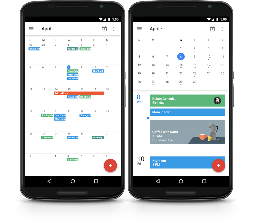 Make A New Google Calendar Mobile Google Calendar Get The New App For Android And Iphone Google Calendar Introduces Month View Again Android