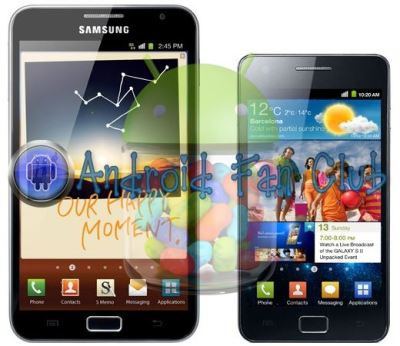 Android Jelly Bean 4.1.2 Firmware Update for Samsung Galaxy S II and Galaxy Note