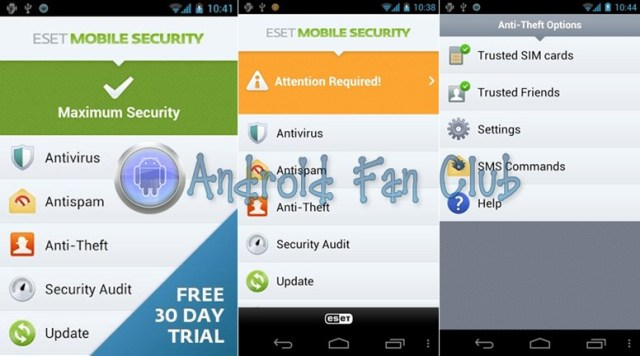 ESET NOD32 Mobile Security for Android smartphones & tablets