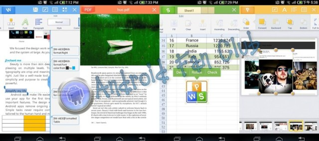 Kingsoft Office 5.6 for Android smartphones & tablets