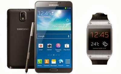 Samsung Galaxy Note 3 and Samsung Galaxy Gear Android Smartwatch
