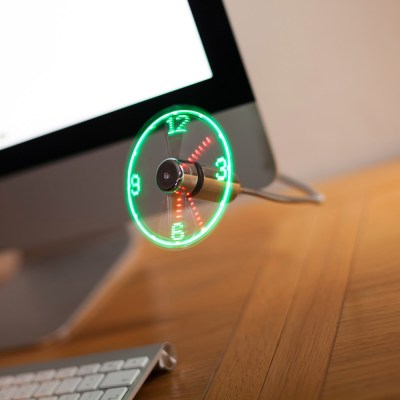 Colorful USB Clock Fan Android