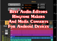 Best Audio Editing Apps For Android Smart Phones & Tablets