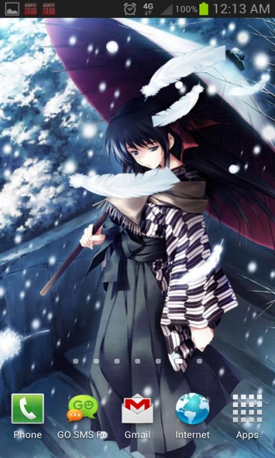 Anime Snow Live Wallpaper Android App - Free APK by Totallyproducts
