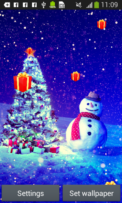 Christmas Live Wallpapers free APK android app - Android Freeware