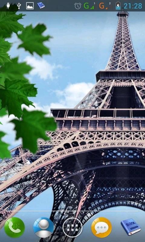 Falling Leaves Live Wallpaper Apk Download Eiffel Tower Android App Apk By Hdwallmedia