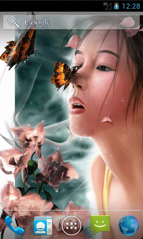 Cute Live Wallpapers For Android Apk Girl And Butterfly Live Wallpapers Android App Free Apk