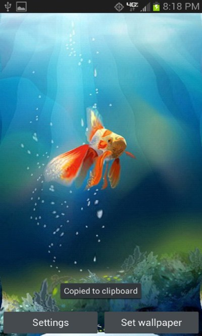 Goldfish in yuor Phone Live Wallpaper free Android App - Free APK by Totallyproducts