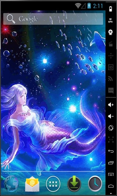 Mermaid In Water Live Wallpaper Android App APK by Android LWP