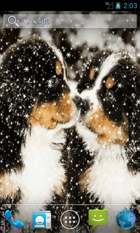 Www Cute Puppies Wallpaper Com Puppies In Snow Live Wallpapers Android App Free Apk By