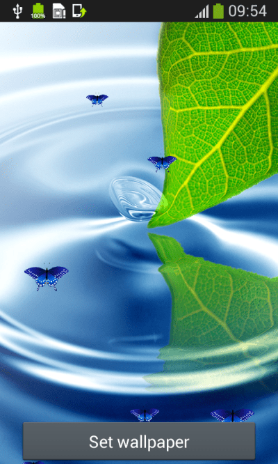 Water Live Wallpapers Top free APK android app - Android Freeware