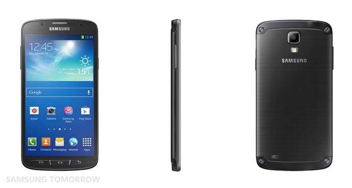 Samsung Galaxy S4 Active views