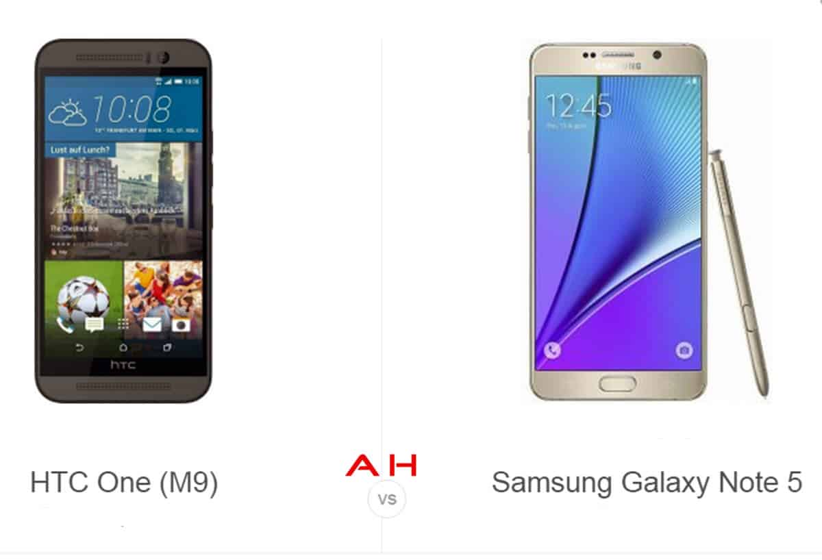 Phone comparisons htc one m9 vs samsung galaxy note 5 androidheadlines com