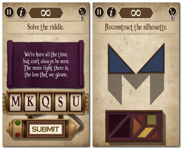 Während dieses Rätsel noch eher einfach ist, erfordern spätere Aufgaben gute Englischkenntnisse. Auch Tangram-Fans finden in The Curse interessantes Rätselfutter!