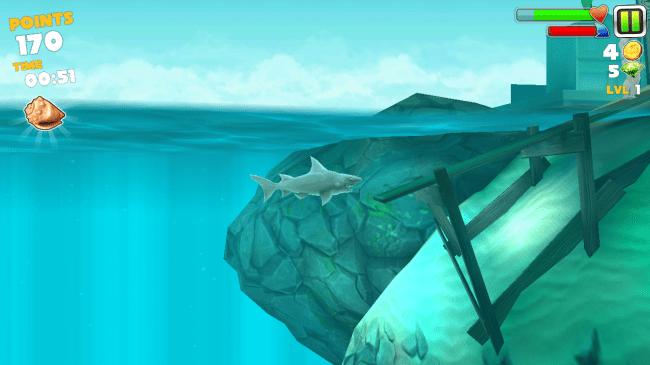 In diesem Spiel schlüpfst du in die Rolle eines hungrigen Hais und musst möglichst schnell so viele Opfer wie möglich vertilgen, egal ob Fische, Vögel oder Menschen. Guten Appetit!