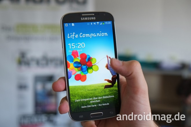 Der AMOLED-Bildschirm des Samsung Galaxy S4: scharf, farbenfroh - und bald auch in Low-End-Smartphones zu finden?