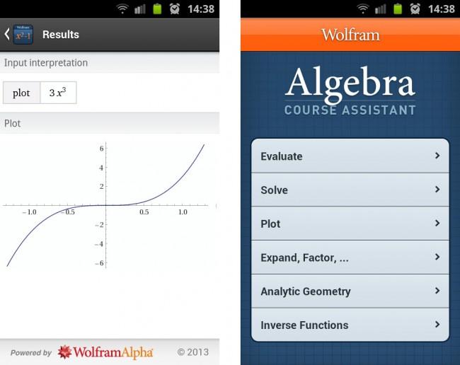 Mit dieser englischsprachigen Algebra-App von Wolfram Alpha kannst du Brüche, Quadratwurzeln oder jede andere mathematischen Ausdruck vereinfachen.