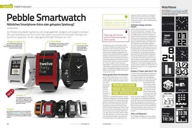 Test: Pebble Smartwatch (2 von 4 Seiten)