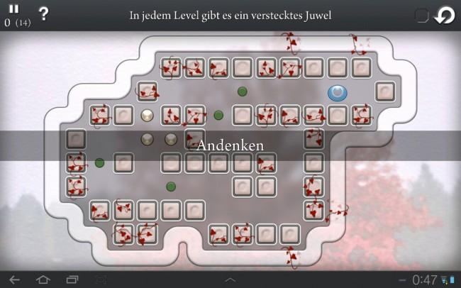 In jedem Level gibt es ein verstecktes Juwel zu finden.